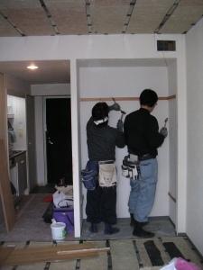 ワンルームマンションを防音室に改装工事