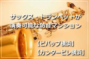 防音室付きの賃貸マンション「ビバップ横浜」