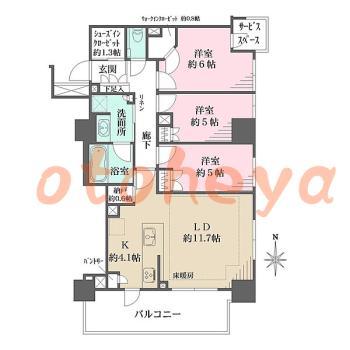 tokyo4物件 3LDK 33万円の図面1